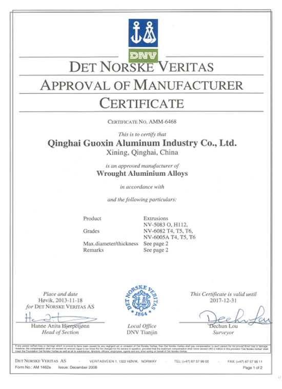 Norway classification society certification